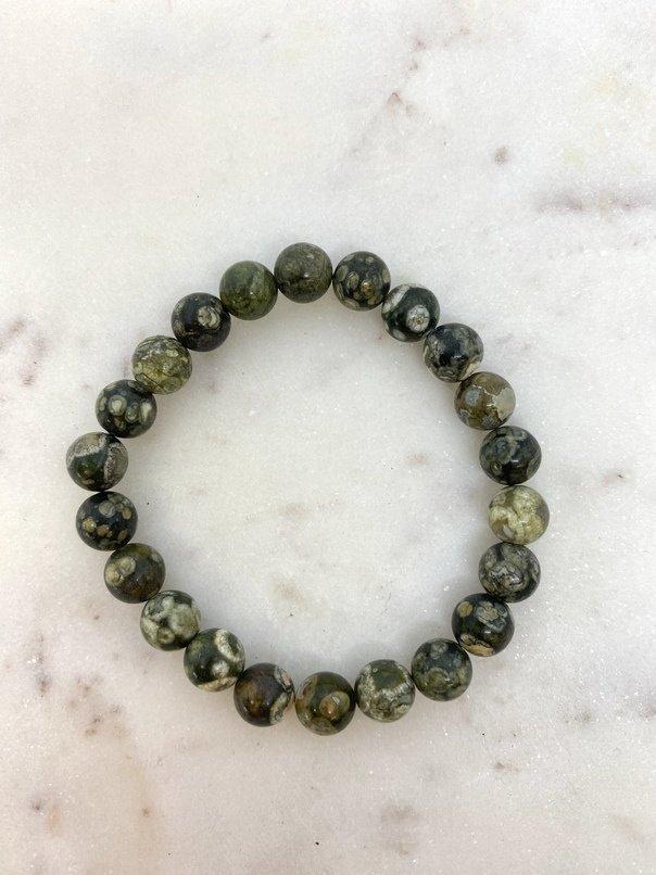 Blue Ocean Jasper Crystal Bracelet