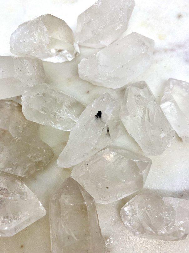 Clear Quartz Crystal Raw Points