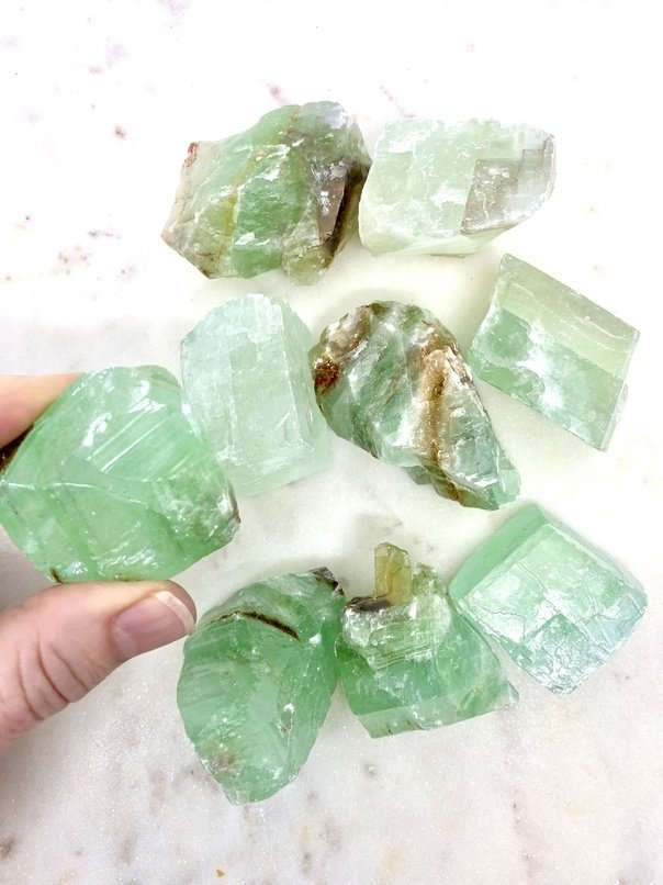 Green Calcite Crystal (Each)
