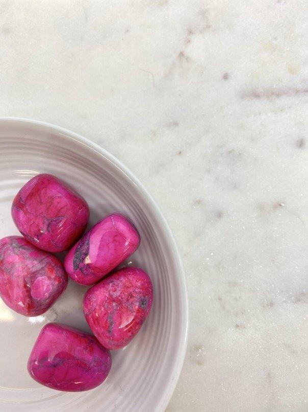Pink Howlite Crystal Tumbled (Each)