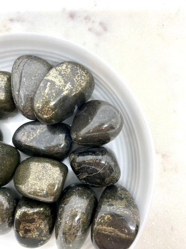 Pyrite Crystal Tumbled (each)