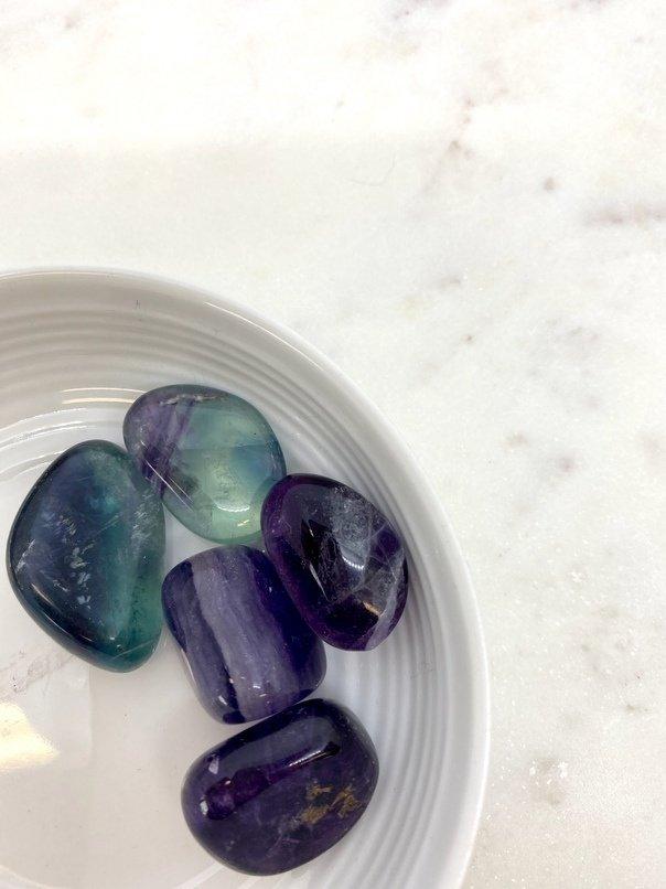 Rainbow Fluorite Crystal Tumbled (Each)