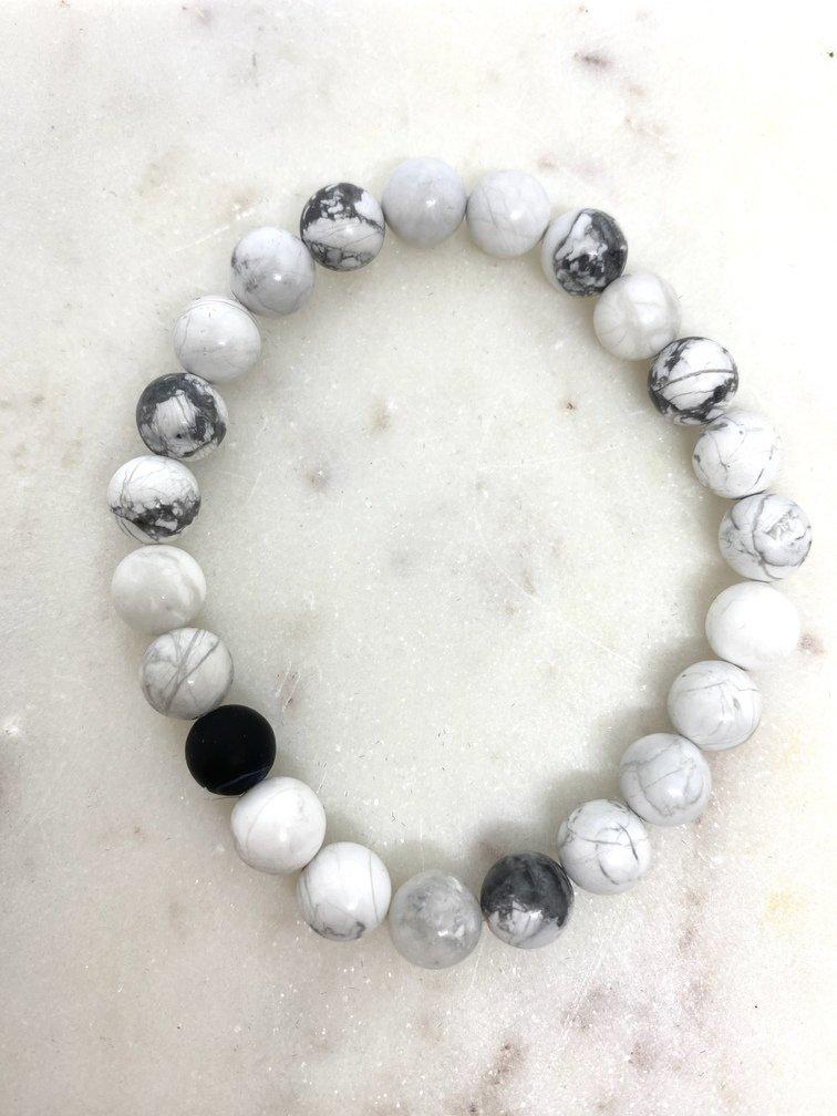 White Howlite Crystal Bracelet