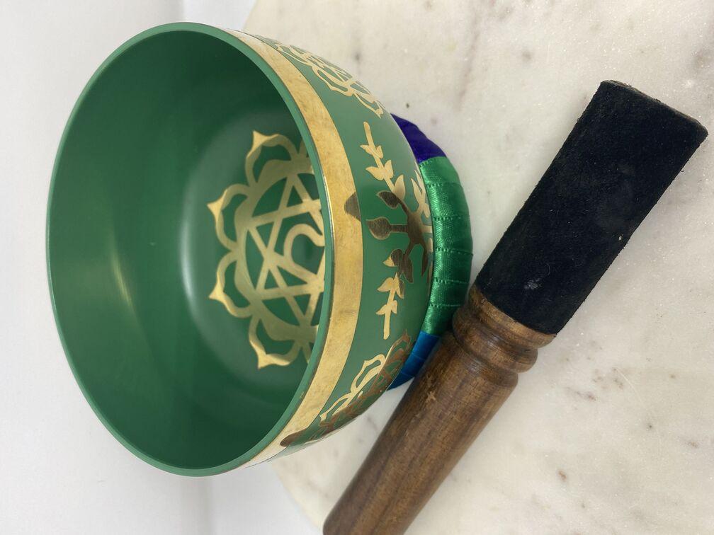 Heart Chakra Singing Bowl Green (13cm)