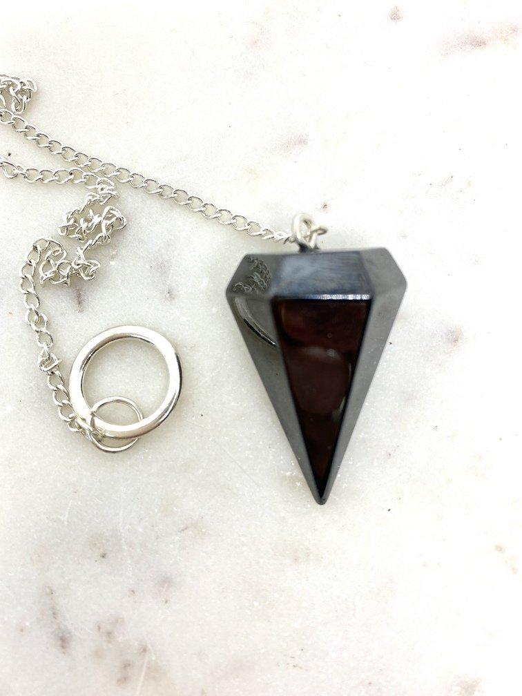 Hematite Crystal Pendulum