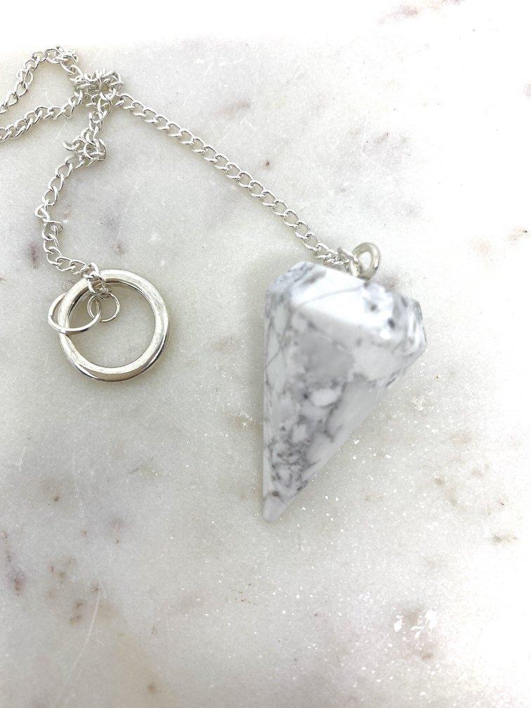 Howlite Crystal Pendulum
