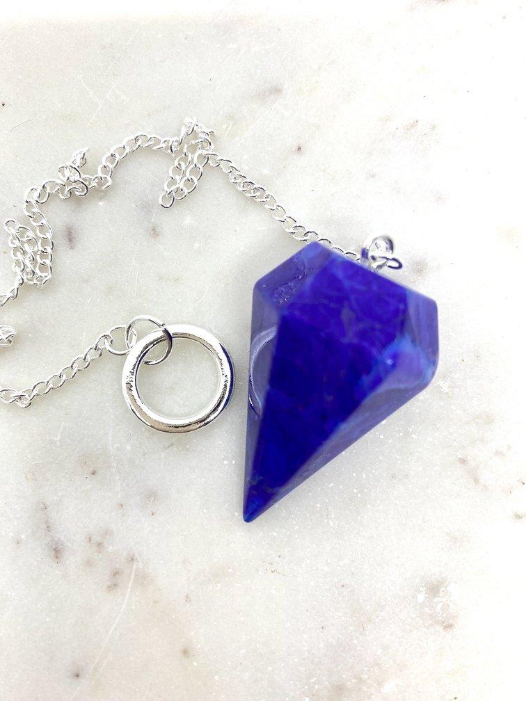 Purple Howlite Crystal Pendulum