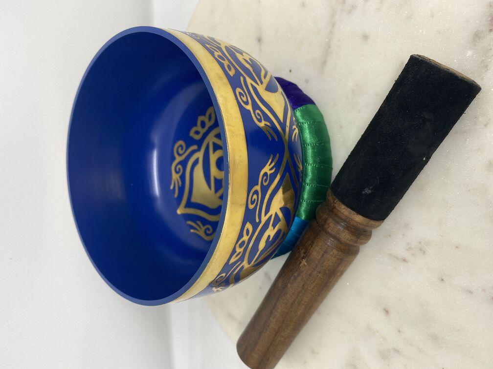 Third Eye Chakra Singing Bowl Blue (13cm)