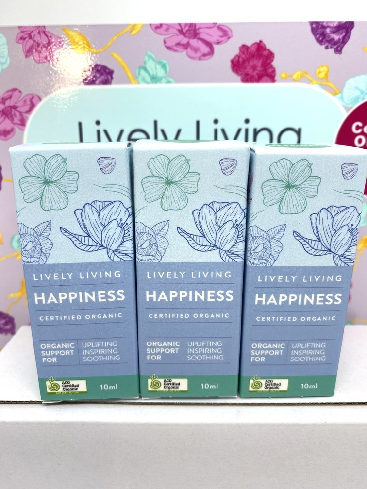 Happiness Organic Blend Essential Oil 10ml by Lively Living