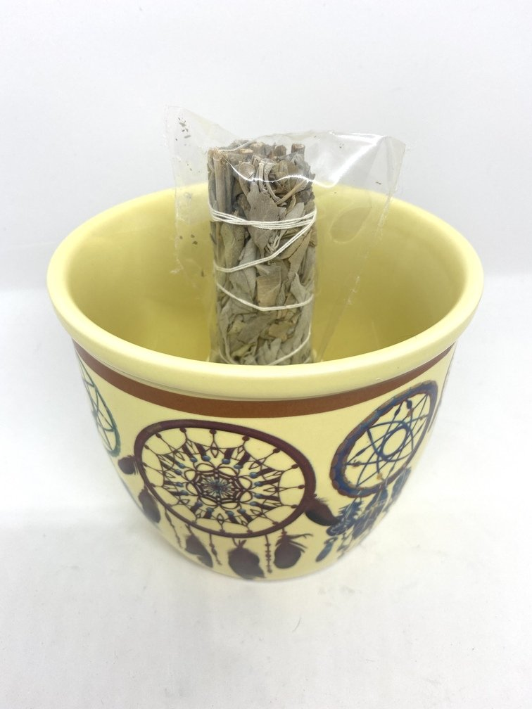 Smudge Bowl Dreamcatcher (sage not included)